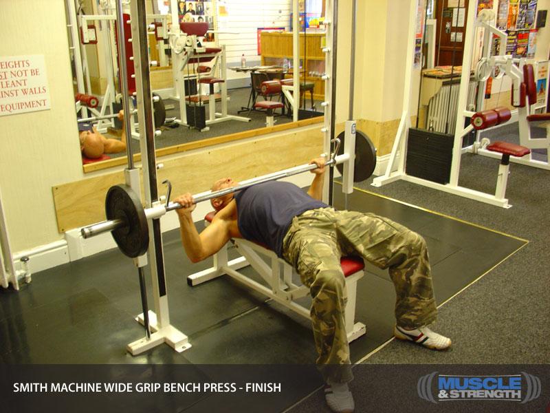 smith machine grip bench press