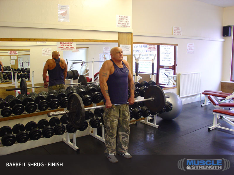 Barbell Shrug Video Exercise Guide Amp Tips Muscle Amp Strength