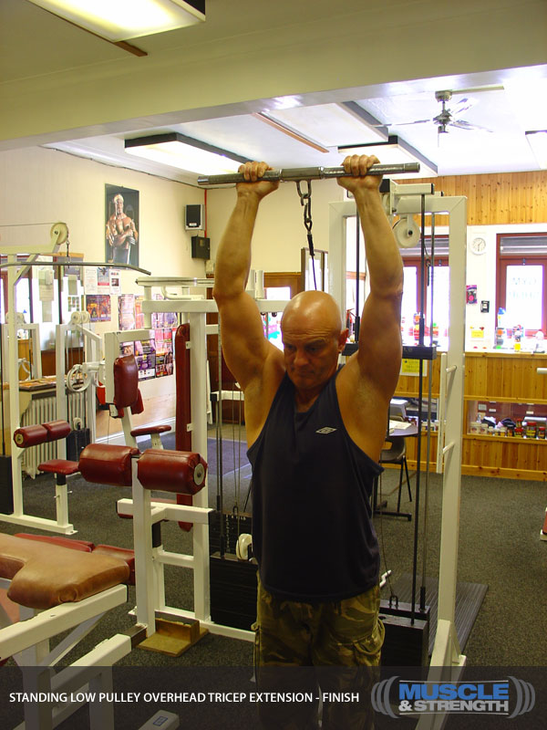 Standing Low Pulley Overhead Tricep Extension: Video