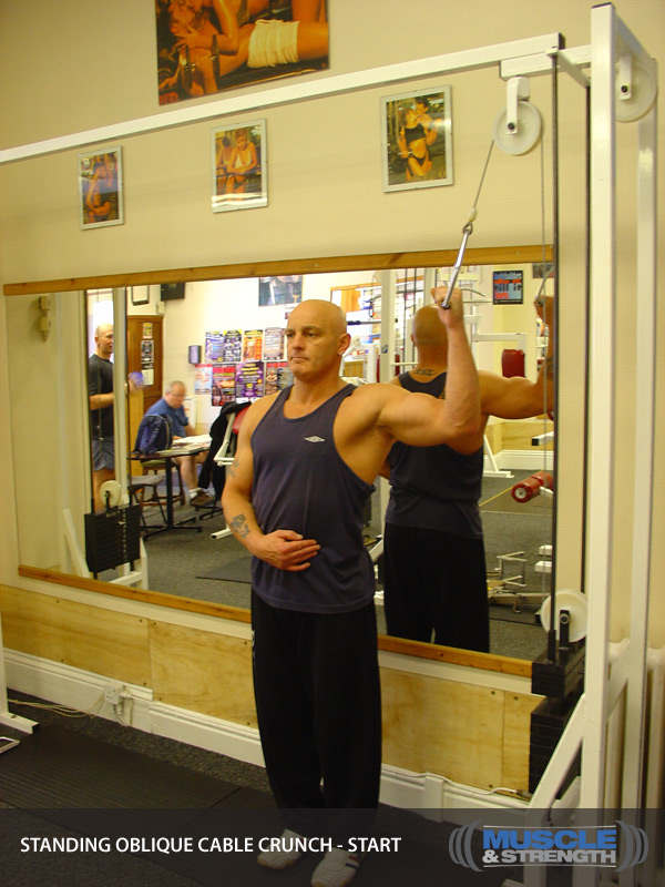 Standing Oblique Cable Crunch Video Exercise Guide Amp Tips