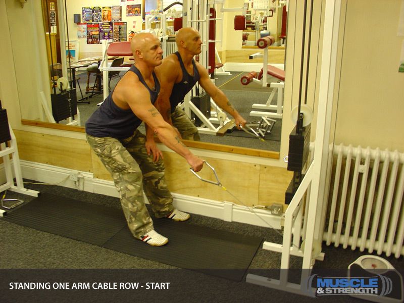 Standing One Arm Cable Row Video Exercise Guide Amp Tips