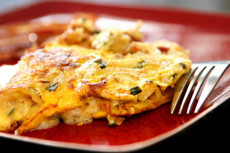 Ground Turkey Omelette