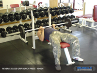 Reverse Close Grip Bench Press