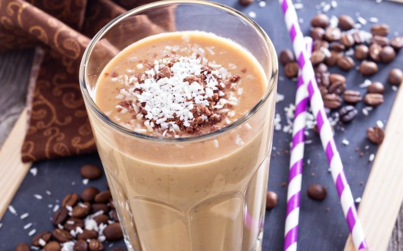 caramel and coffee shake