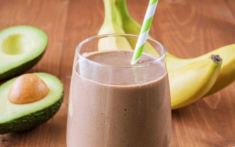 chocolate avocado banana shake