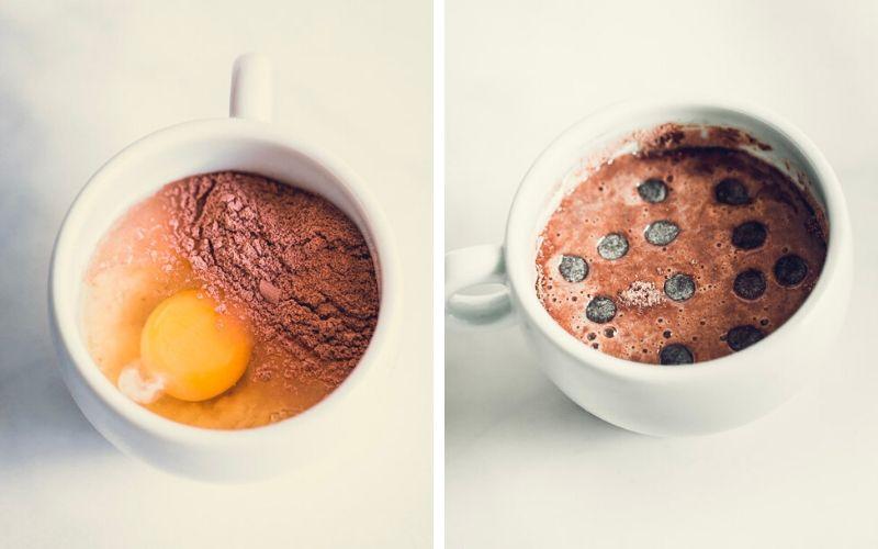Chocolate Protein Mug Cake Batter