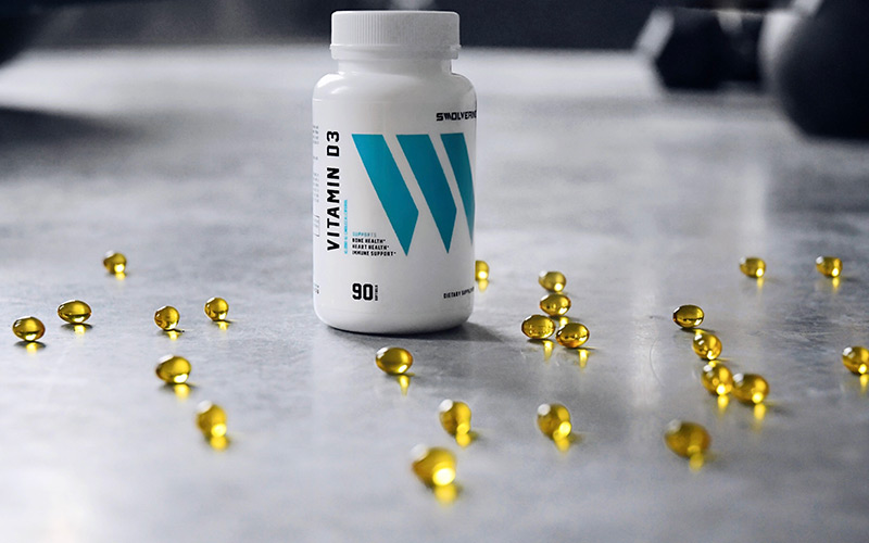 Swolverine's Vitamin D3 bottle shot