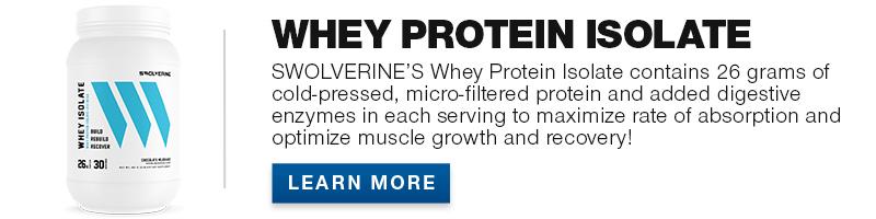 Swolverine Whey Isolate Protein Banner