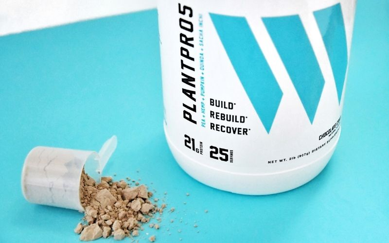 Product shot of Swolverine protein plant protein powder.