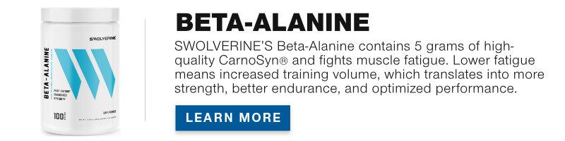 Swolverine Beta-Alanine Product Banner