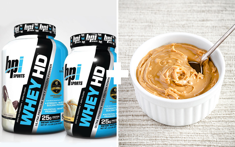 5 Muscle Building Meals To Eat Before You Sleep - Whey + Peanut Butter