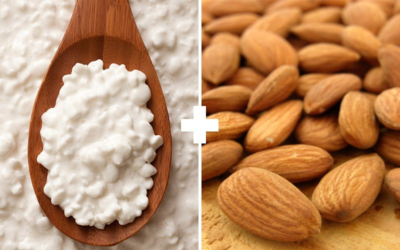 5 Muscle Building Meals To Eat Before You Sleep - Cottage Cheese + Almonds