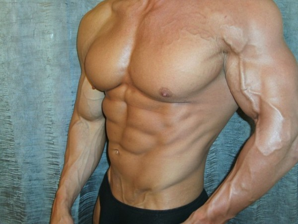 Chad Shaw's chest and torso.