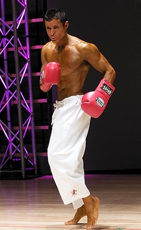 Sherif Kamal with boxing gloves