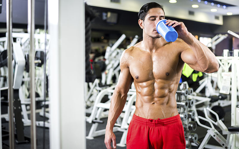 Athlete Drinking Supplements