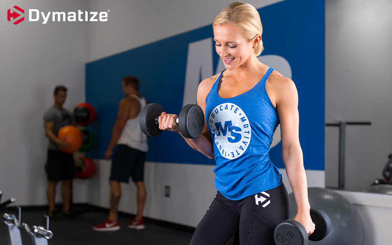 Dymatize Athlete Focusing on working one arm at a time