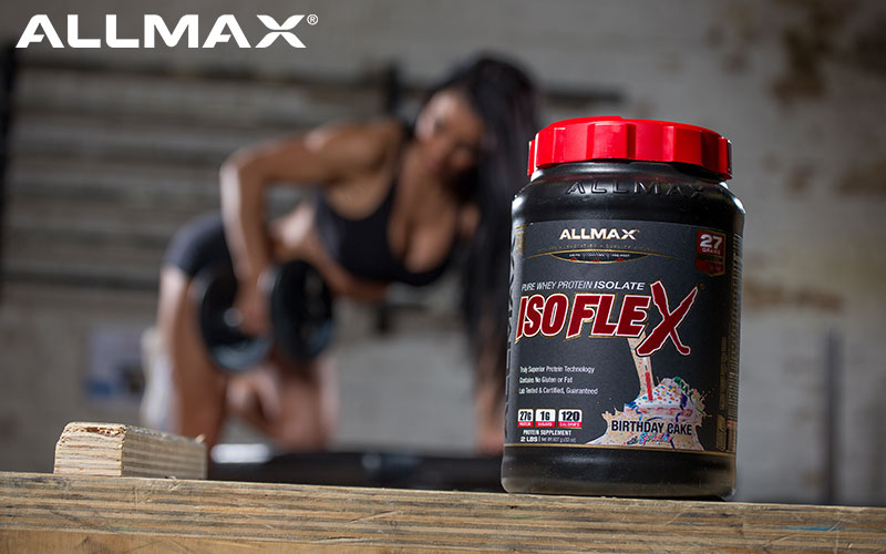 ALLMAX dumbbell row with Isoflex