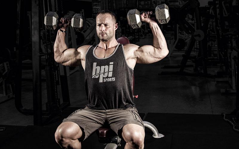 BPI Athlete Performing Workout for Shredded Shoulders