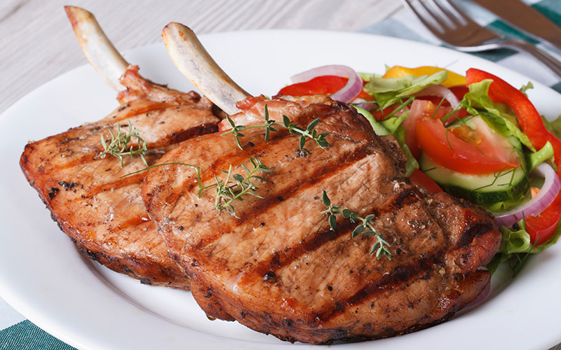 lean pork chops - a good, cheap protein source