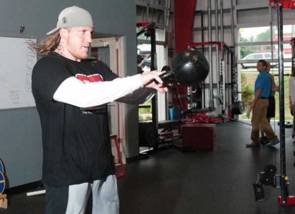 AJ Hawk Kettlebell Swings