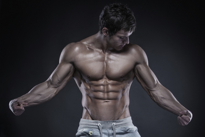 Shredded physique