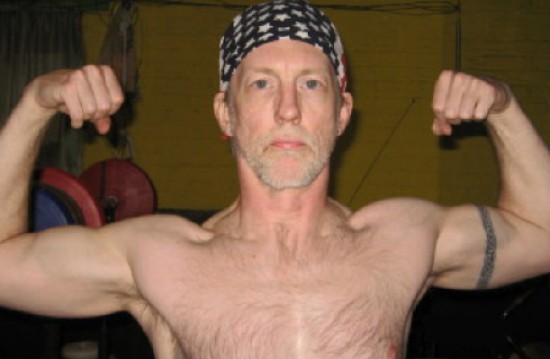 Dan Bergstrom front double biceps.