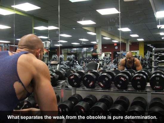 What separates the weak from the obsolete is pure determination.