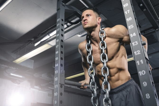 Chest Dips With Chains