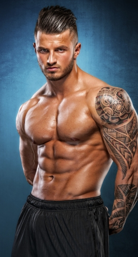 Shredded Male Physique