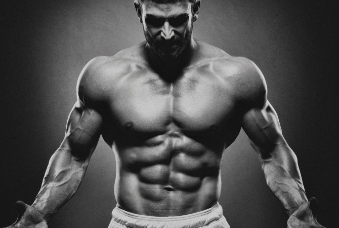 Jacked and muscular man