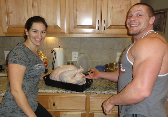 Molesting the turkey/foreplay