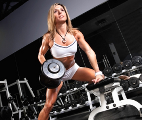 Woman Dumbbell Row