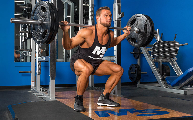 M&S Athlete Performing a Squat