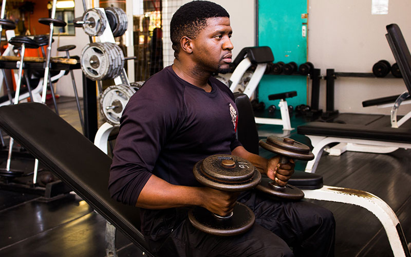Athlete Focused on Body Composition