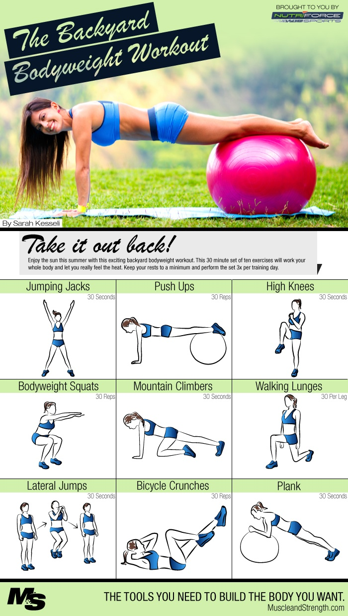 Backyard Bodyweight Workout