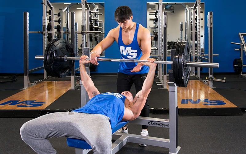 M&S Athletes Bench Pressing