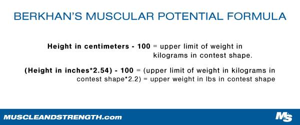 Berkhans Formula for Maximum Muscle Potential