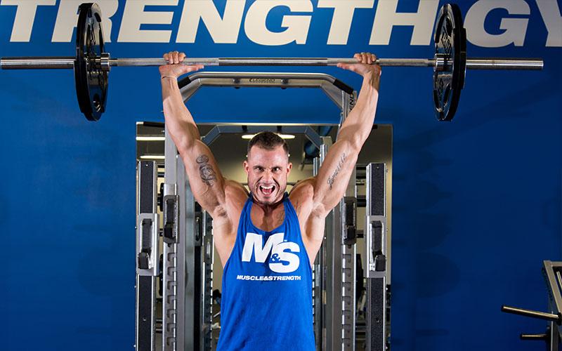 Best Shoulder Workout: Standing barbell press