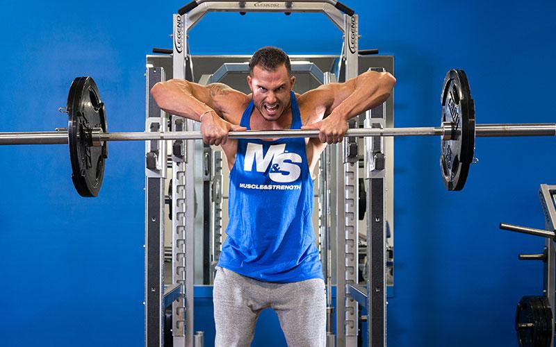 Best Shoulder Workout: Upright row supersets