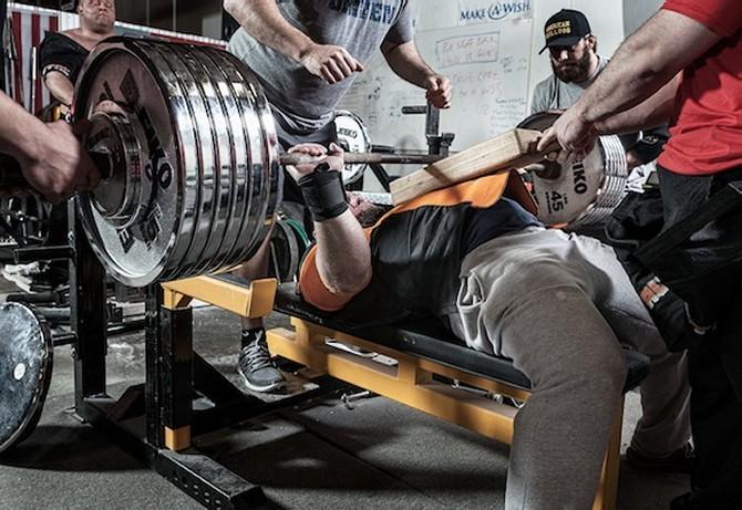 Brian Carroll bench press