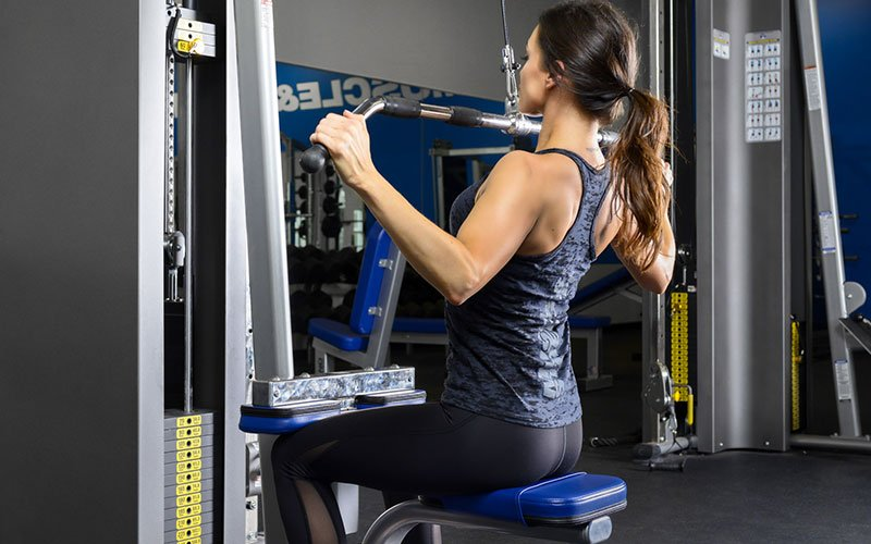 Muscle overlaps in the lat pull down