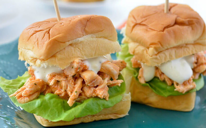 Gameday Buffalo Chicken Sliders