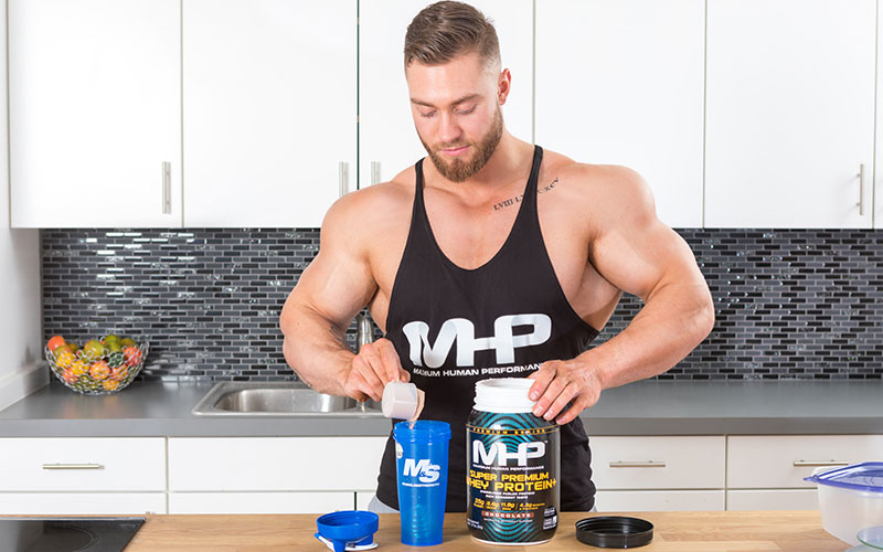MHP Athlete Chris Bumstead Taking Protein