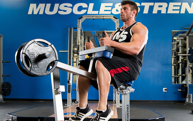 M&S Athlete Performing Seated Calf Raises