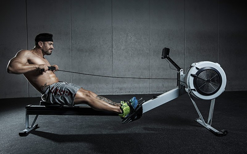 Best Cardio for Fat Loss: Rowing on an erg machine