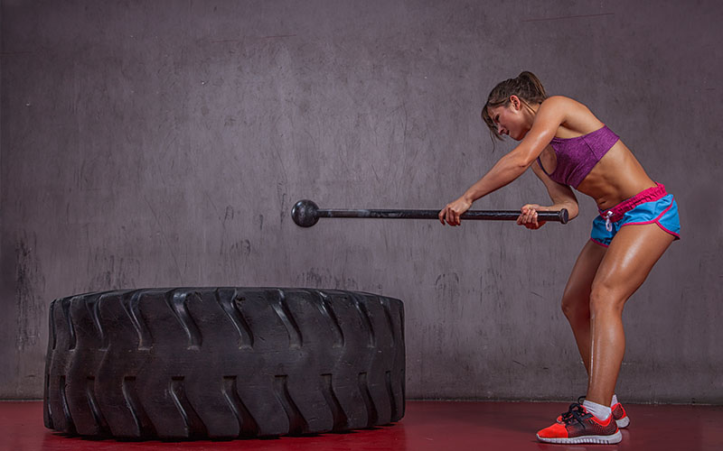 Home Cardio Workout With Tire And Sledgehammer