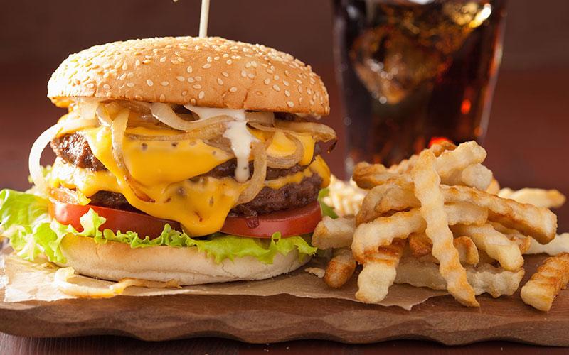 Processed Food Burger