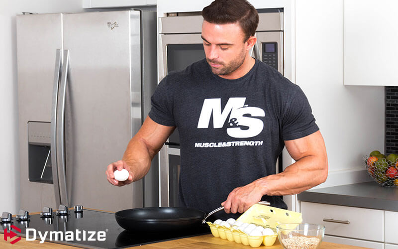 Dymatize Athlete Brett Kahn Cooking Eggs