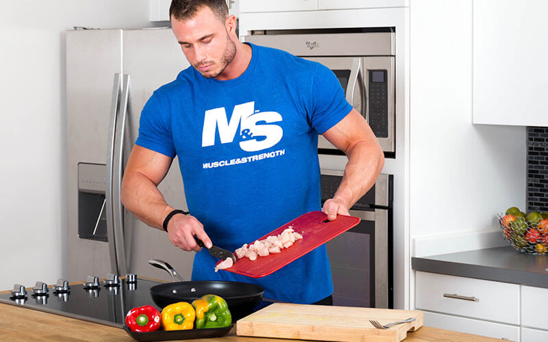 M&S Athlete Cooking Chicken