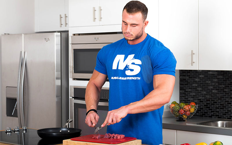 M&S Athlete cooking beef after fasting
